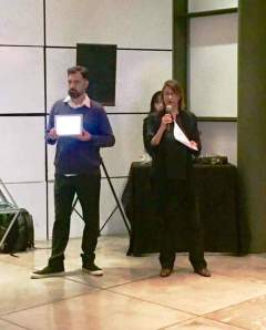 Claudia Porto and Roberto Magalhães, Oi Futuro director, launching ICOM COMCOL's e-book.